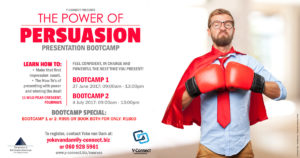 The Power of Persuasion Presentation Boot Camp @ Strategy International | Sandton | Gauteng | South Africa