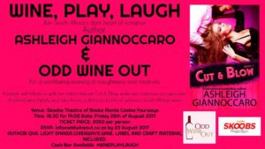 Wine, Play, Laugh With Ashleigh Giannoccaro @ Skoobs at Monte Casino | Johanneburg | Gauteng | South Africa