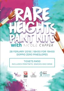 Rare Heights Paint Nite with Nicole Capper @ Doppio Zero Pineslopes | Johannesburg | Gauteng | South Africa