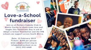 Love-a-School Fundraiser @ Parkers Comedy and Jive | Sandton | Gauteng | South Africa