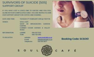 Survivors of Suicide Support Group @ Soul Cafe  | Johannesburg | Gauteng | South Africa