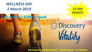 Discovery Vitality Wellness Day @ Broadacres Biokinetics @ Broadacres Biokinetics | Sandton | Gauteng | South Africa