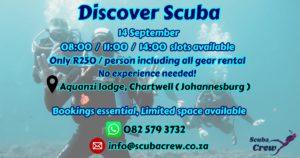 Discover Scuba a.k.a SCUBA Try Outs @ Aquanzi Lodge