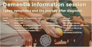 Dementia Information Session @ Soul Cafe | Sandton | Gauteng | South Africa