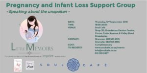Pregnancy and Infant Loss Support Group @ Soul Cafe | Sandton | Gauteng | South Africa