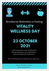 Discovery Vitality Wellness Day @ Broadacres Biokinetics   Sandton   Gauteng   South Africa